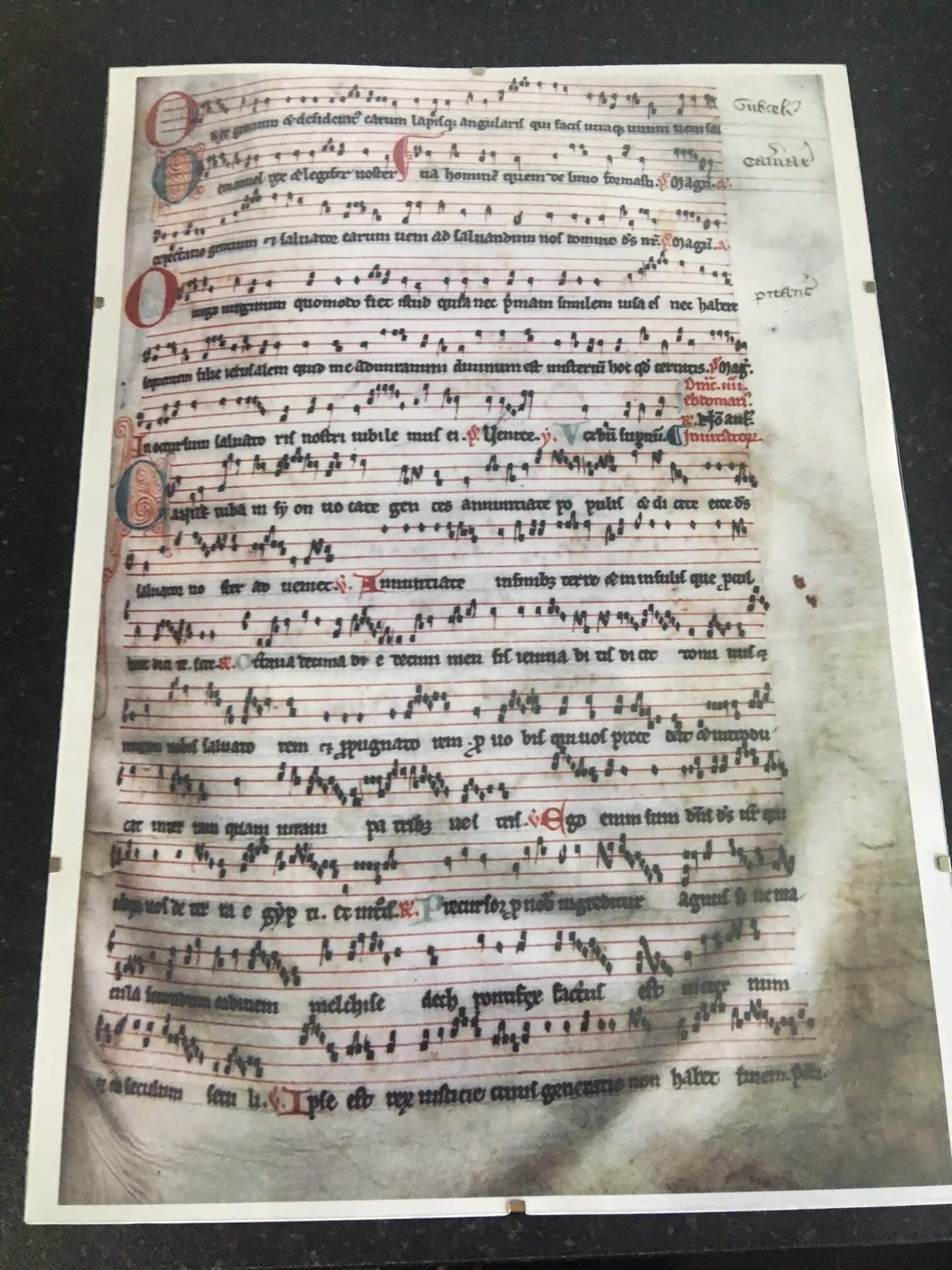 A copy of the Worcester Antiphoner was presented to Cantorum